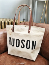 HUDSON Canvas + Leather Tote Bag