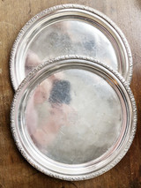 Pair of Antique Silver Trays from The Hotel Astor NYC