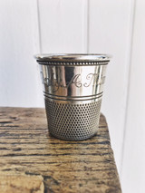 Vintage Cartier Sterling Silver Thimble Shot Glass