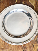 Antique Silver Serving Tray from Grand Hotel du Pavillon in Paris
