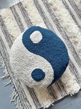 Indigo Yin Yang Pillow