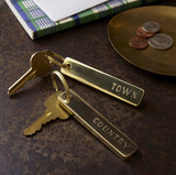 Brass Town & Country Keychain Set