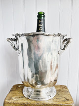 Antique Silver Plated Champagne Bucket from the Ritz Carlton NYC