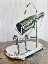Antique Silver Plated Hotel Mechanical Wine Decanter