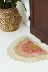 Peach + Gold Doormat