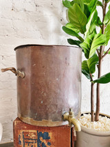 Huge Antique Copper Water Pot from Reform Club London