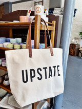 UPSTATE Canvas + Leather Tote Bag