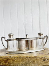 Vintage Silver Condiment Caddy from Northern Pacific Yellowstone Park Line