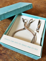 Tiffany & Co Sterling Silver Ice Tongs and Pick Set
