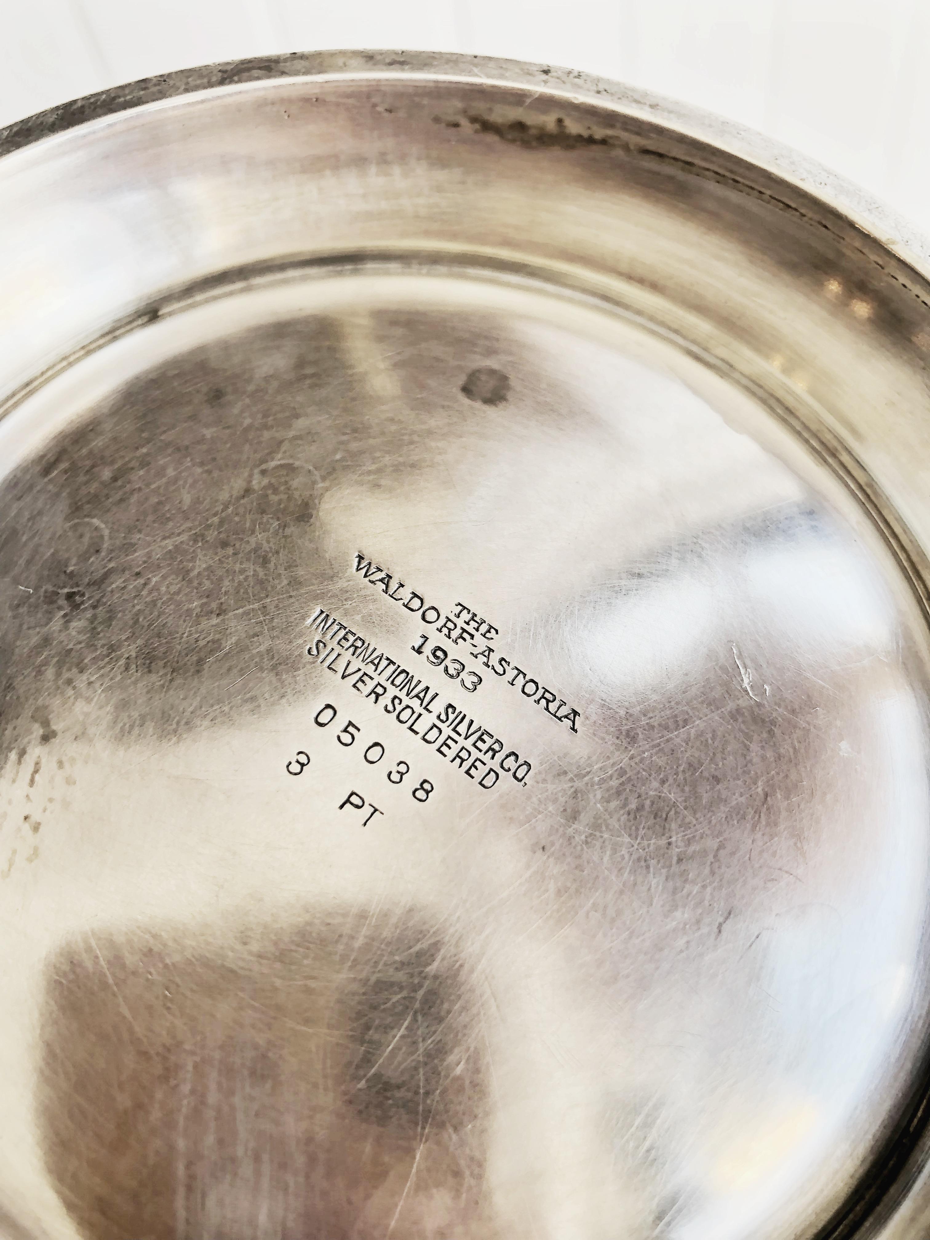 1933 Silver Waldorf-Astoria Ice Bucket