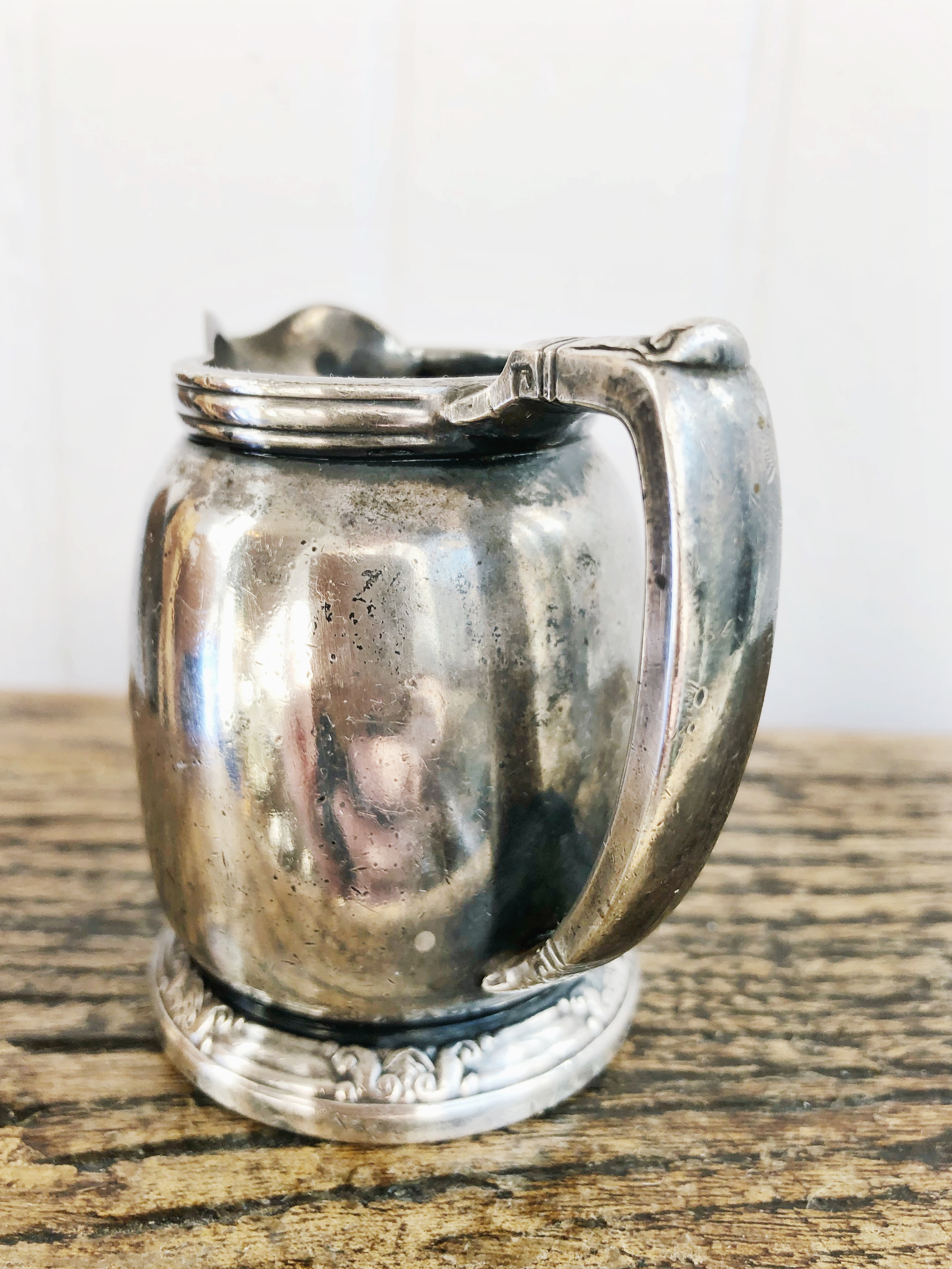 1949 Silver Plated Creamer from the Waldorf Astoria Hotel