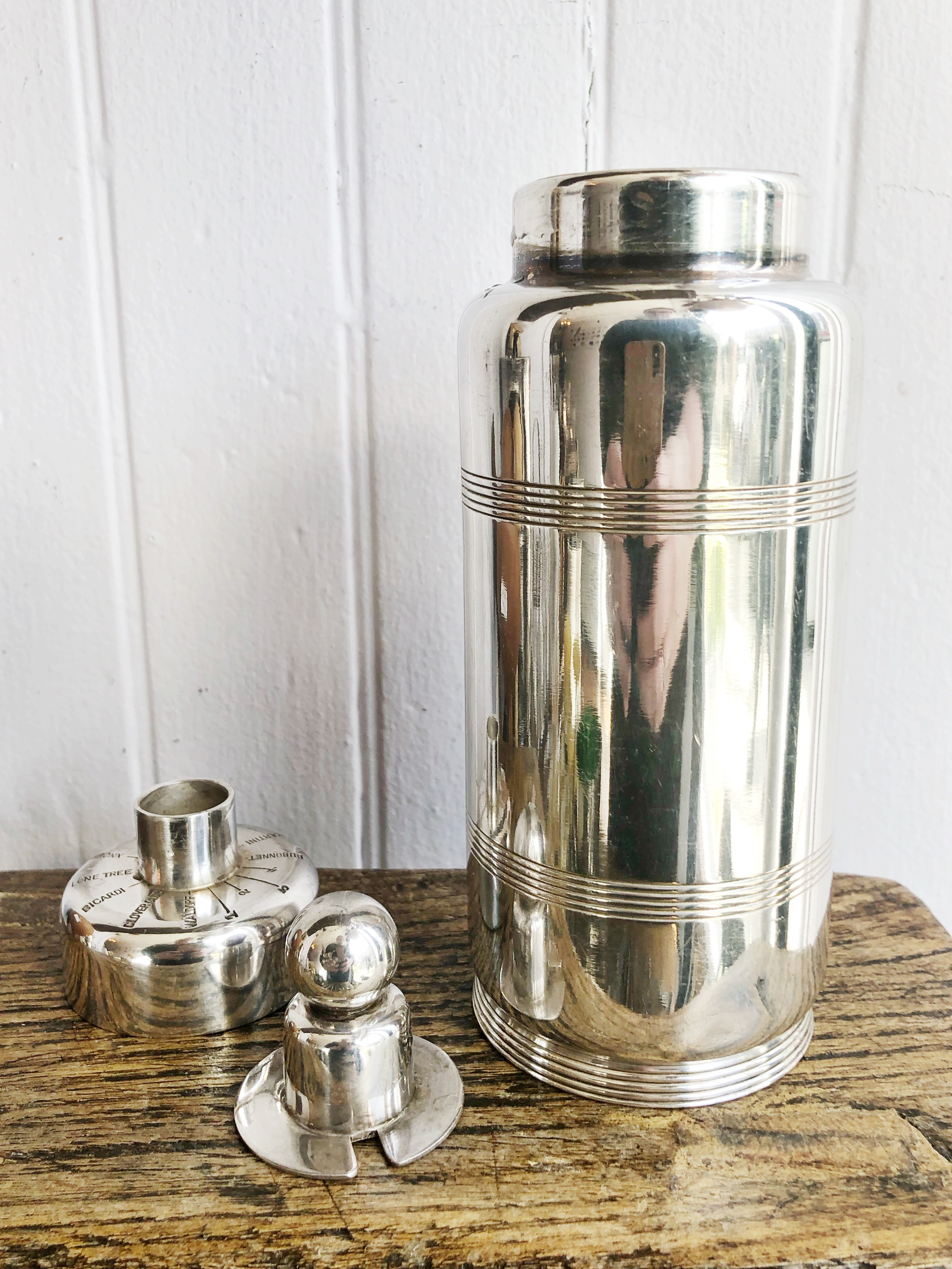 1934 Silver Plated Cocktail Shaker from The Shoreham Hotel Washington DC