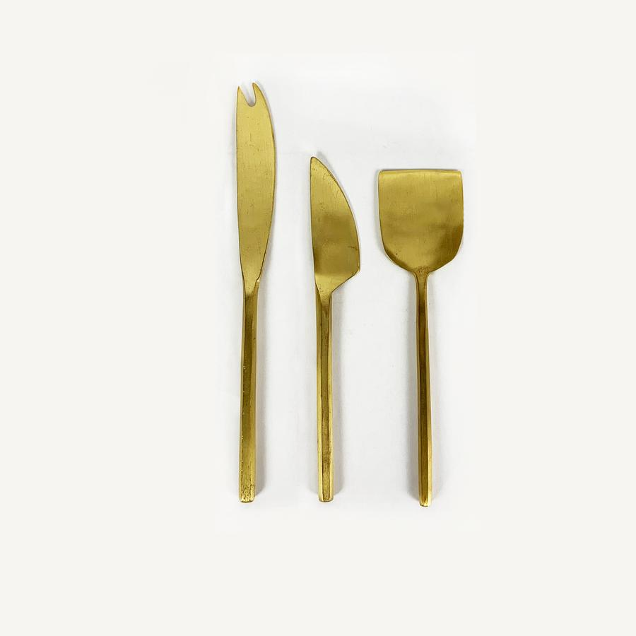 Brass Cheese Set
