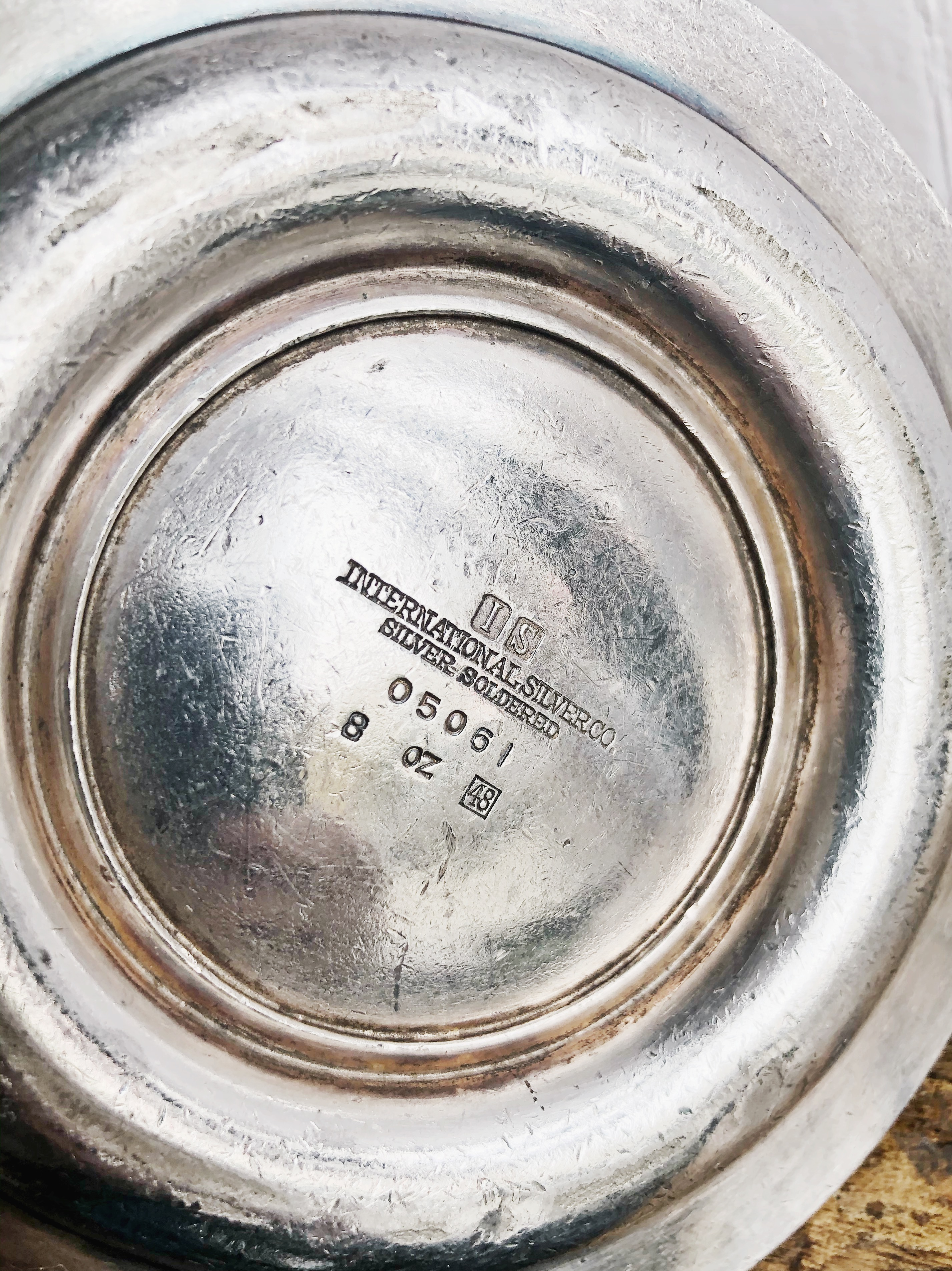 1948 Silver Plated Pennsylvania Railroad Syrup Pitcher