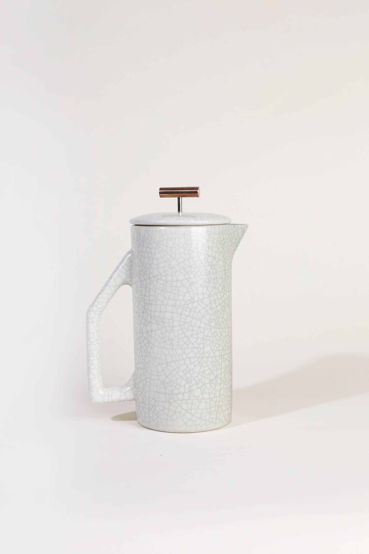 Crackle Ceramic French Press