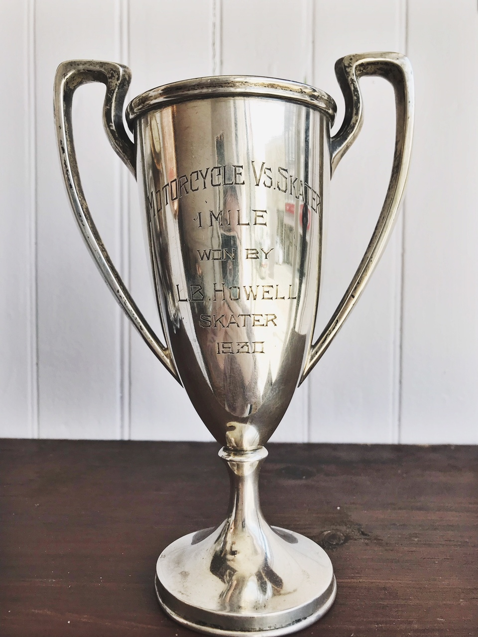 1930 Sterling Silver Motorcycle Trophy