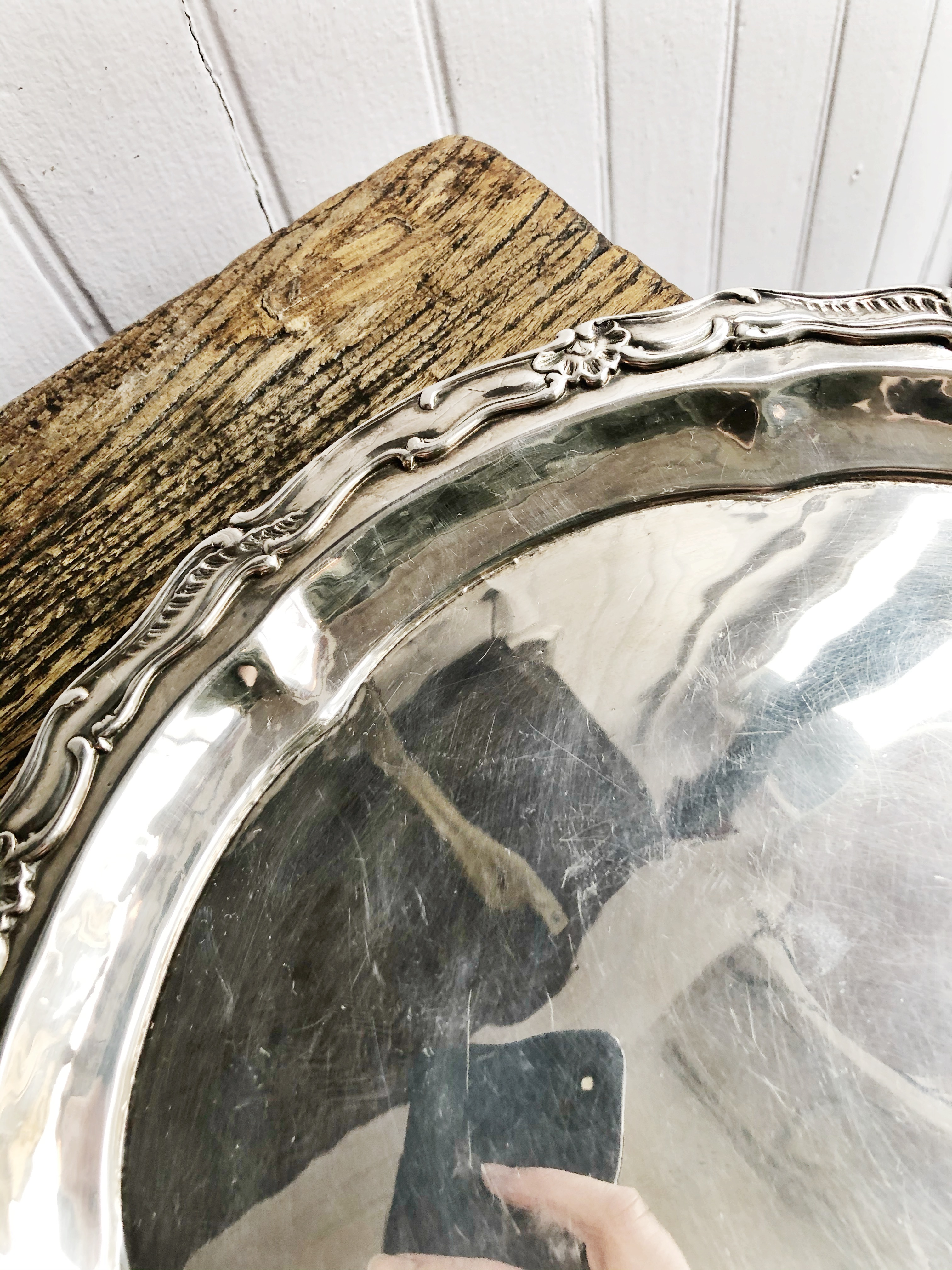Antique 1893 Silver Plated Tray from The Waldorf Hotel NYC