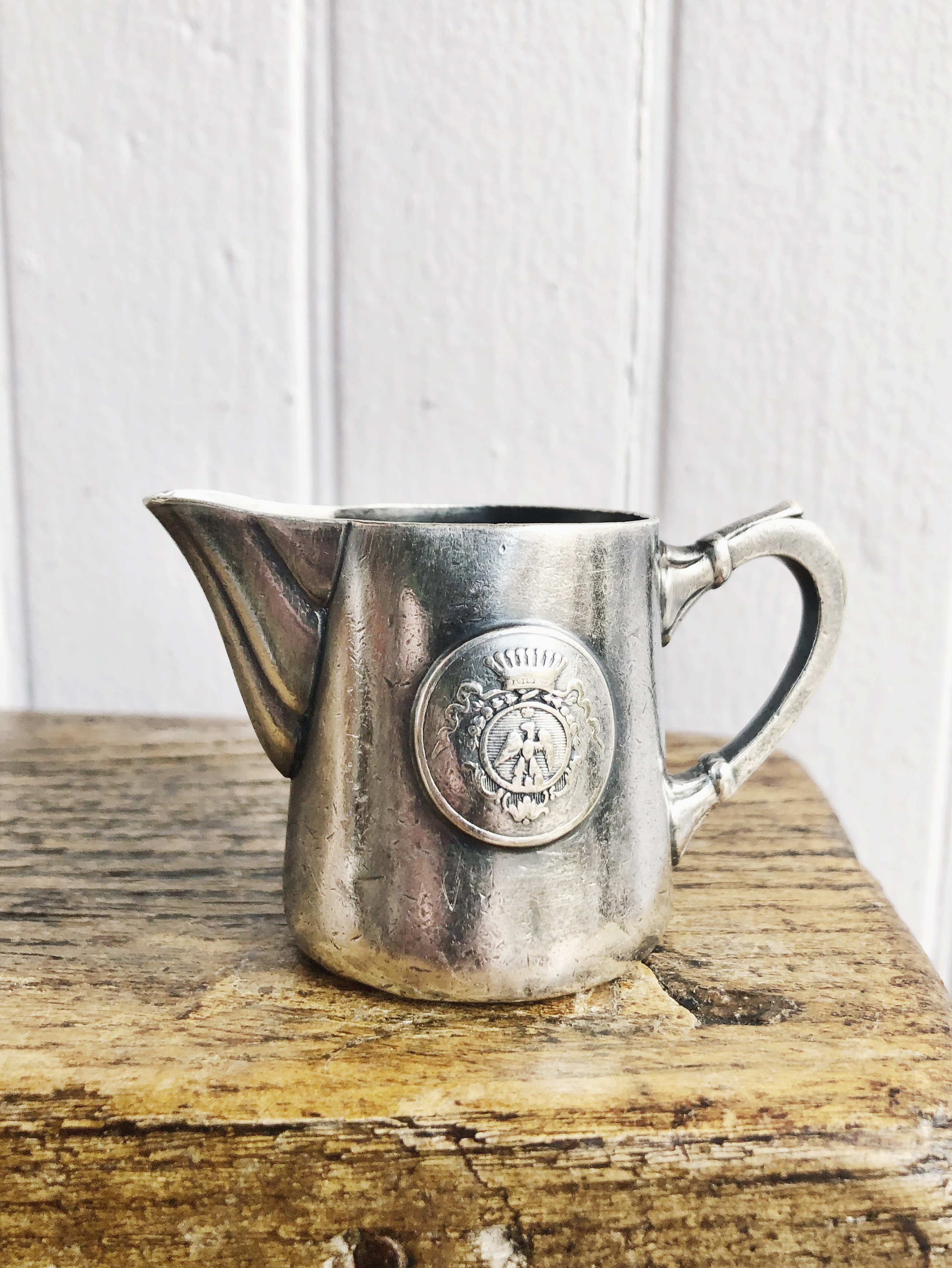 Antique Silver Plated Creamer from Hotel Continental in Nice France