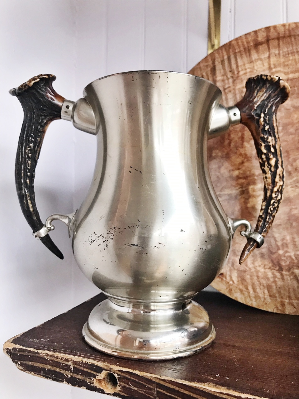 Antique 1908 Trophy with Antler Handles