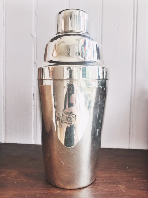 1947 Silver Plated Cocktail Shaker from Glen Line Oceanliner