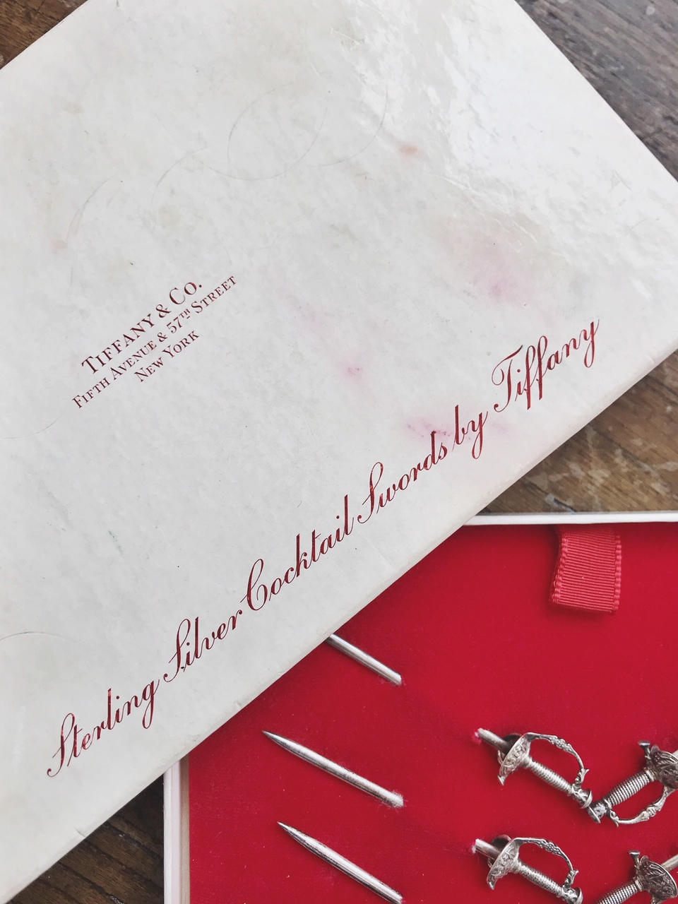 Tiffany & Co Sterling Silver Cocktail Swords