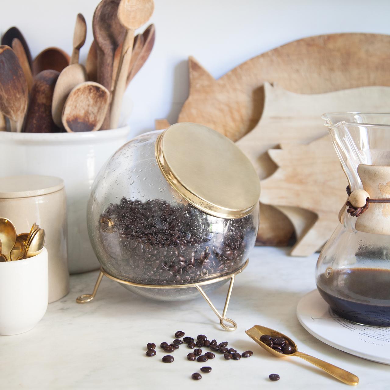 Brass & Glass Storage Jar