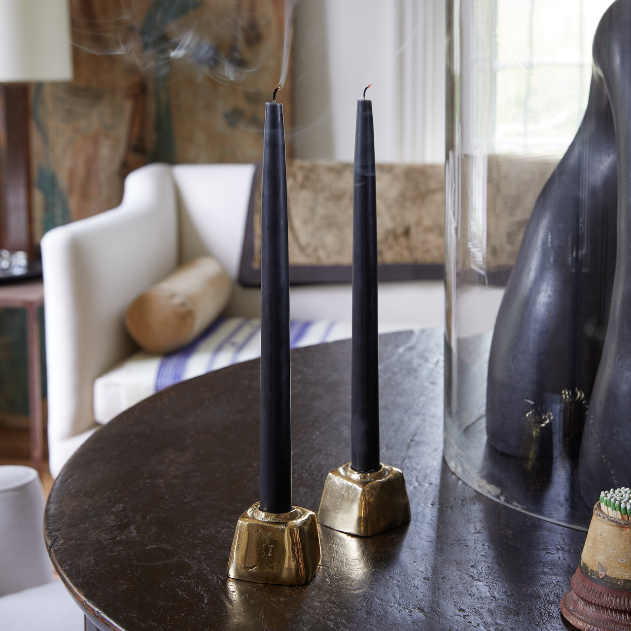 Brass Block Candle Holder