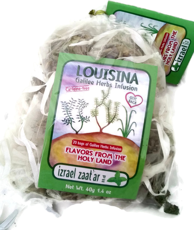 20 mini bags of Louisina – Lemon Verbana & Mint Holyland Infusion | Izrael Zaatar Ltd.