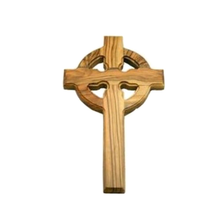 Olive Wood Celtic Gaelic Holyland Bethlehem Cross
