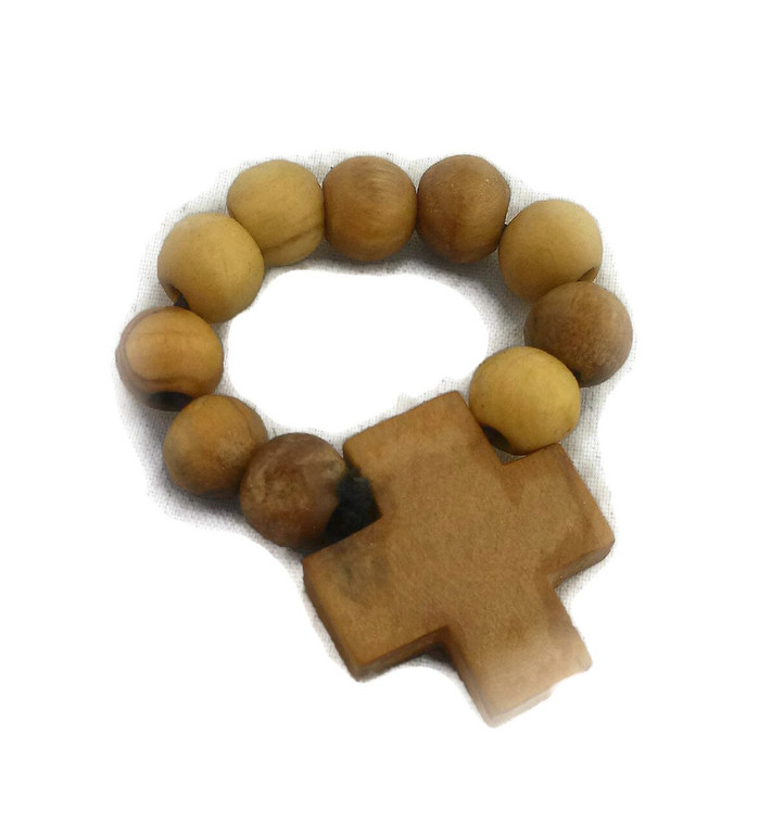 HJW Olive Wood Finger  Rosary