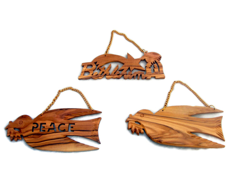 Olive Wood Wall Hanging - Various Designs