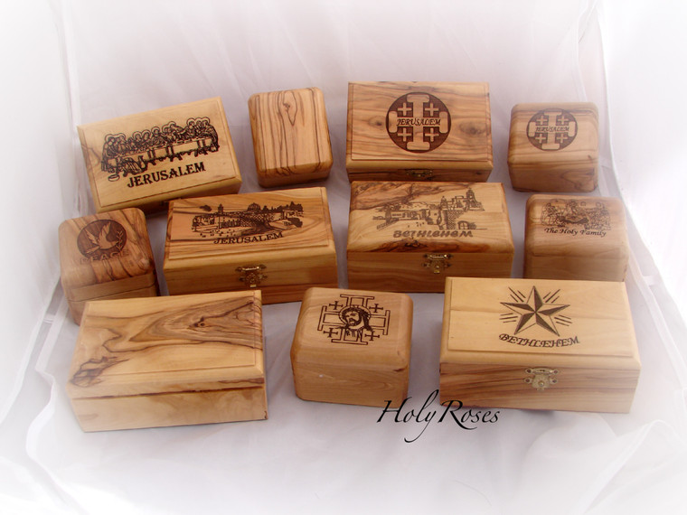 Olive Wood Boxes - Various Designs & Sizes