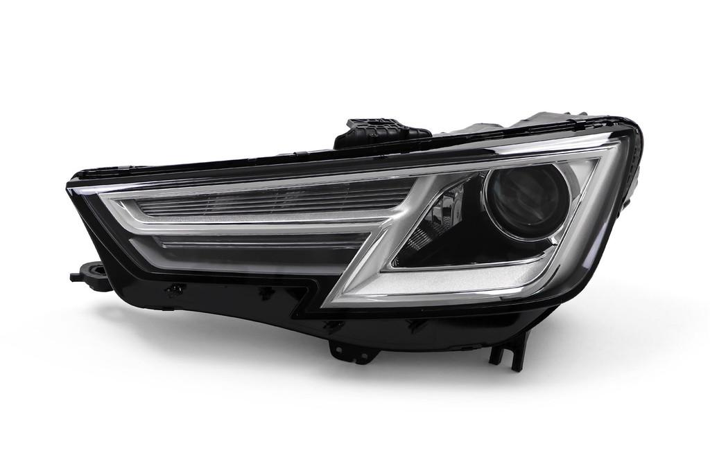 Headlight left chrome Bi-Xenon with cornering Audi A4 15-19