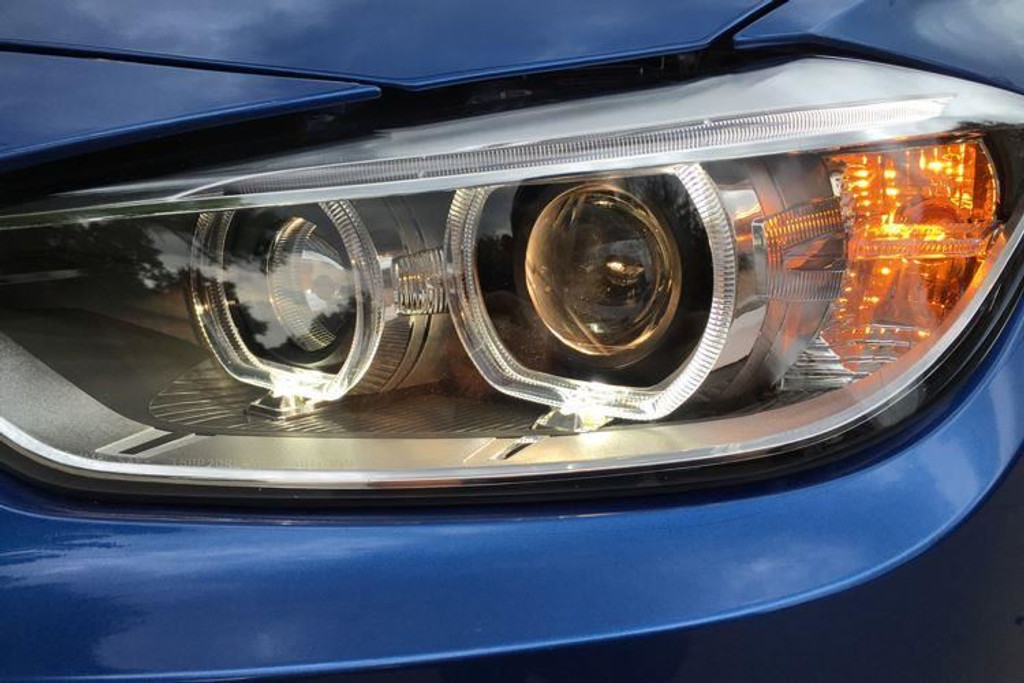 Angel Eyes Xenon Look Headlights Set With Bulbs Osram Unlimited Bmw 3 Series F30 F31 12 15