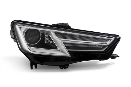 Headlight right chrome Bi-Xenon with cornering Audi A4 15-19