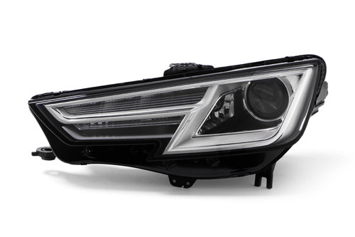 Headlight left chrome Bi-Xenon with cornering Audi A4 15-19