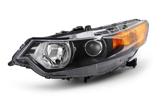 Headlight left black Honda Accord 09-11