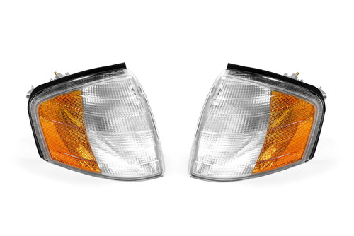 Front indicator set clear orange with marker US Look Mercedes C Class W202 93-99