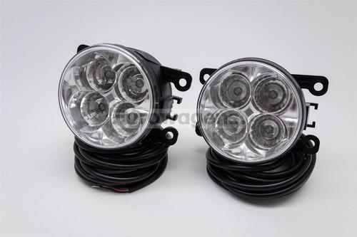 Fog lights set DRL LED with wiring OEM Jaguar S Type 99-07