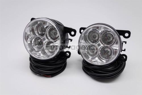 Fog lights set DRL LED with wiring OEM Nissan Pixo 09-14