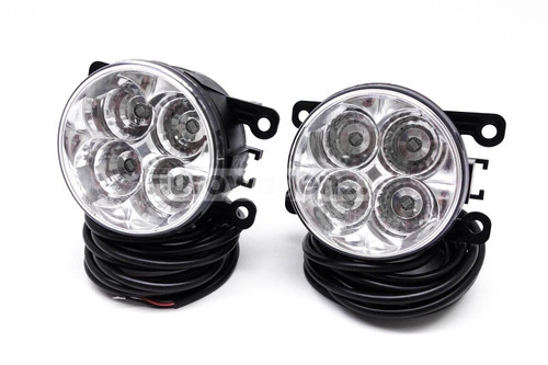 Fog lights set DRL LED with wiring OEM Ford Fiesta 05-17