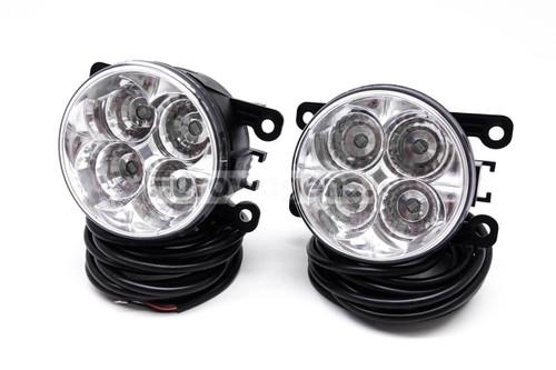 Fog lights set DRL LED with wiring OEM Ford Focus 04-14