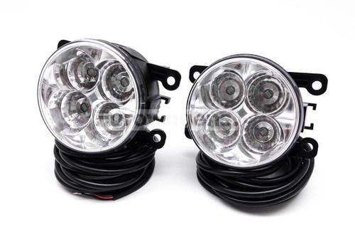 Fog lights set DRL LED with wiring OEM Peugeot 207 06-09