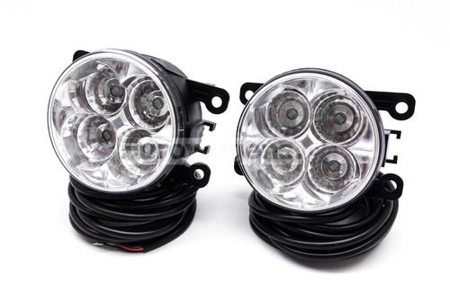 Fog lights set DRL LED with wiring OEM Peugeot 407 05-11 Coupe