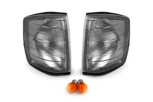 Front indicators set smoked with bulbs Mercedes 190 W201 82-93