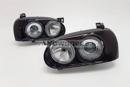 Headlights set black projector VW Golf MK3 92-97