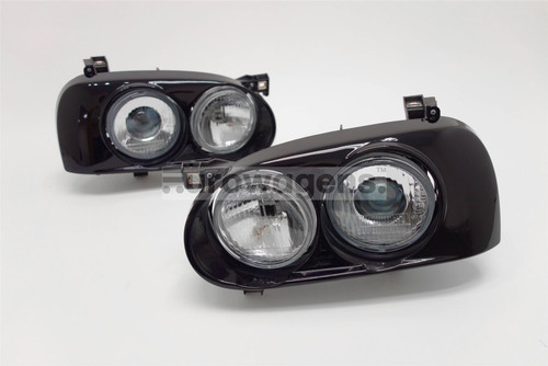 Headlights set black projector VW Golf MK3 92-97