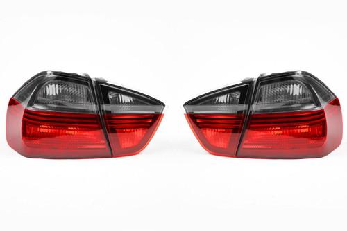 Rear lights set smoked red blackline BMW 3 Series E90 05-08 Saloon