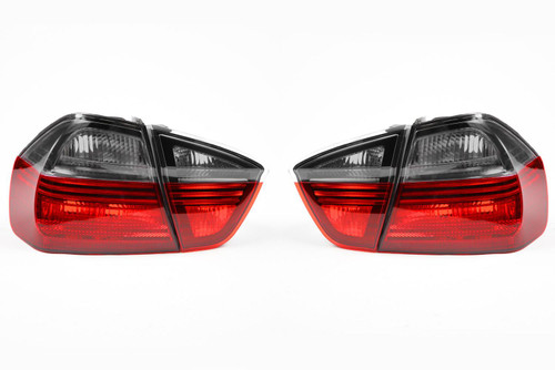 Rear lights set smoked red blackline BMW 3 Series E90 05-08 Saloon