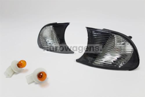 Front indicators set black BMW 3 Series E46 2 door 01-03